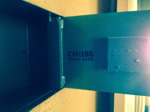 Chubb Wall Safe opened by B&D Safe Opening, London