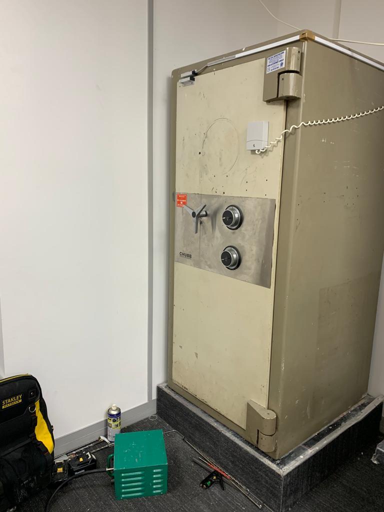 Chubb safe in Hatton Garden, London