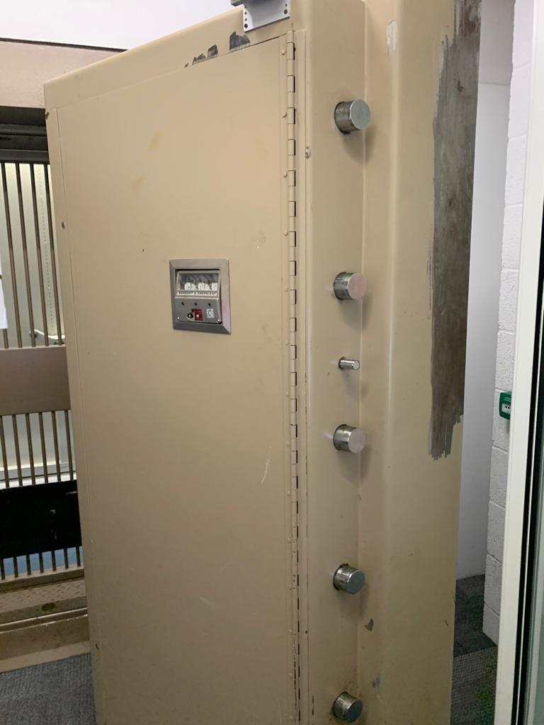 SLS vault door in Bournemouth