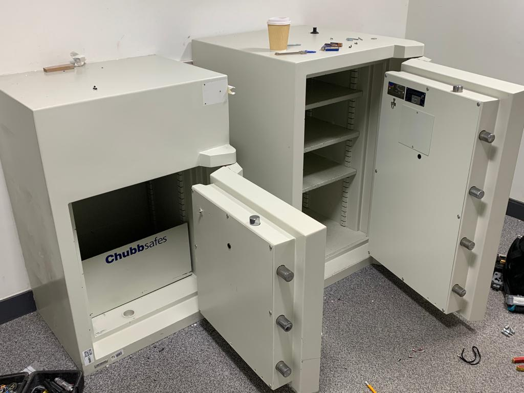 Two Grade 3 Chubb safes opened in London