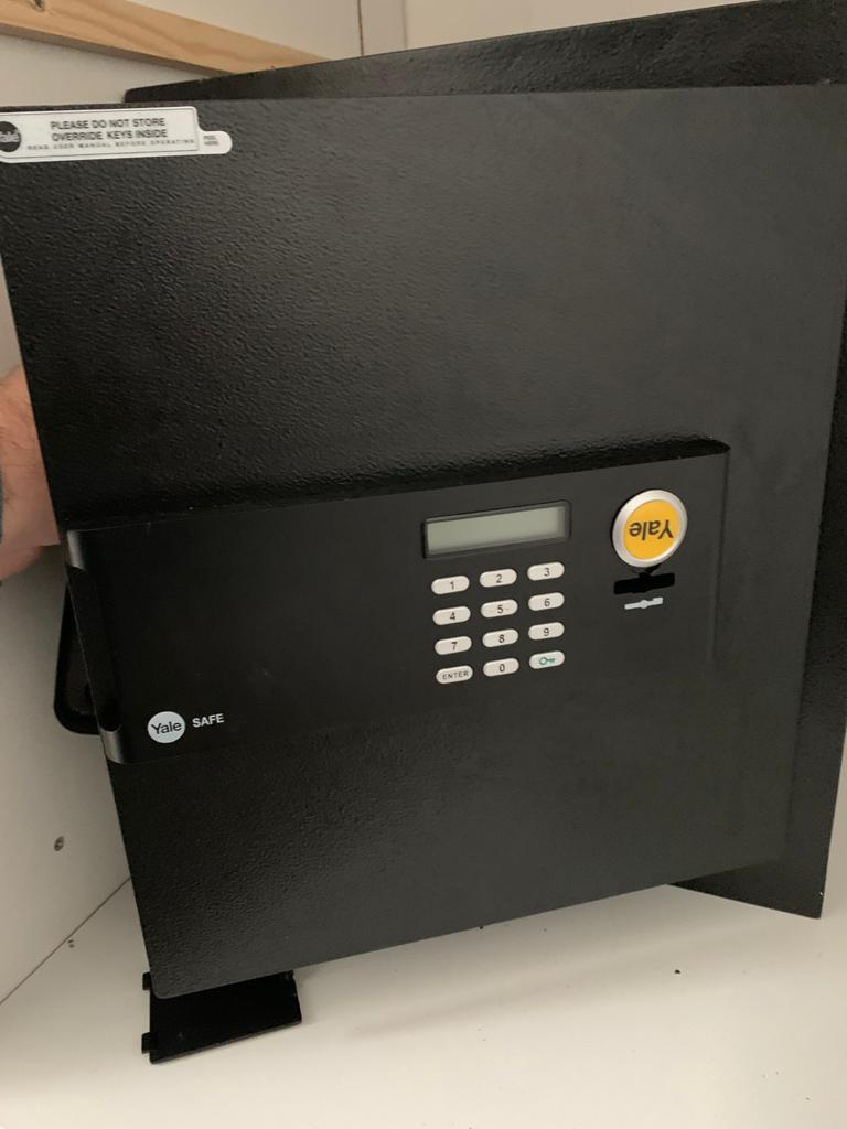 Yale safe opened after customer forgot code