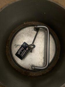 Chubb in-floor safe in Chelsea, West London - lost keys