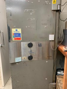 Chubb safe in Hatton Garden, London - new electronic locks fitted